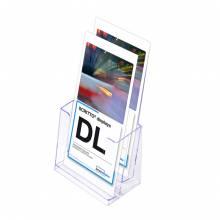 2 x 1/3 A4 Spritzguss-Prospekthalter Tisch/Wand