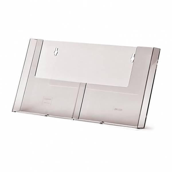 Wandprospekthalter für 2xDIN A5 hoch