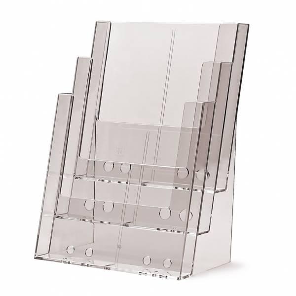 Tischaufsteller 3xDIN A4 oder 6xDIN lang ohne Fachteiler CD