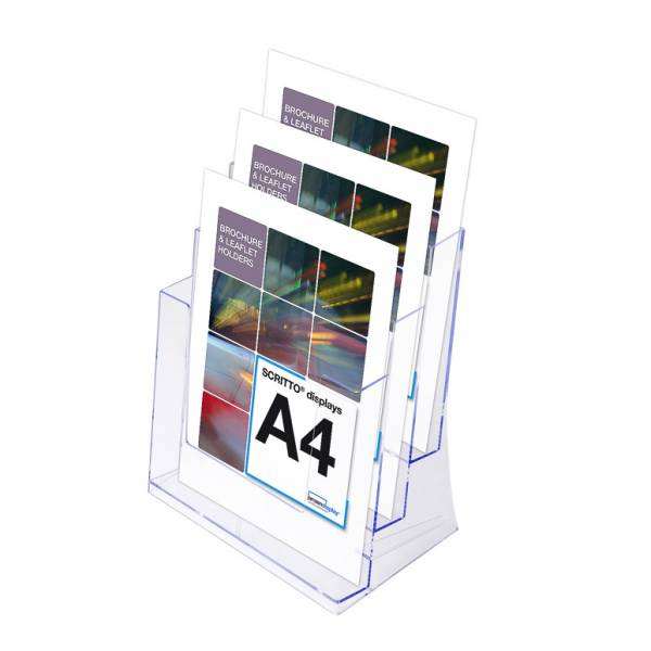 3 x A4 Spritzguss-Prospekthalter