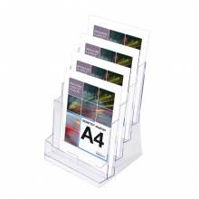 4 x A4 Spritzguss-Prospekthalter
