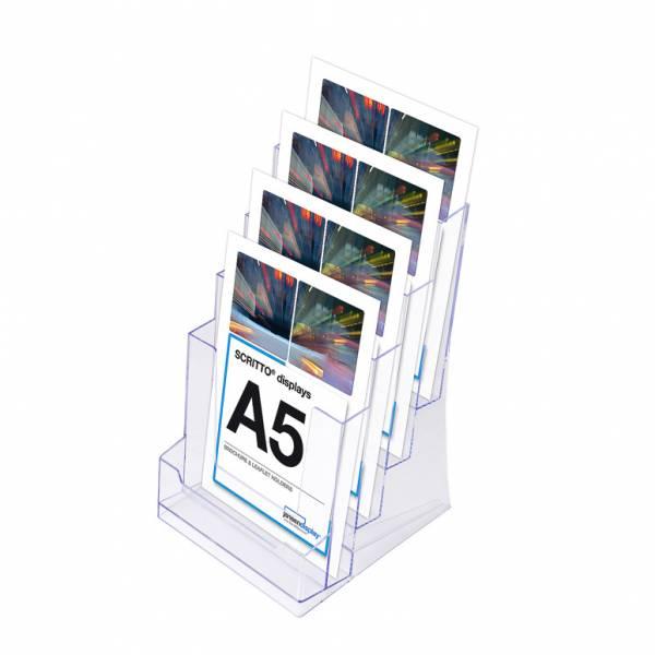 4 x A5 Spritzguss-Prospekthalter