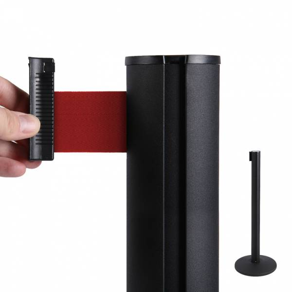 Gurtpfosten Schwarz (roter Absperrband)