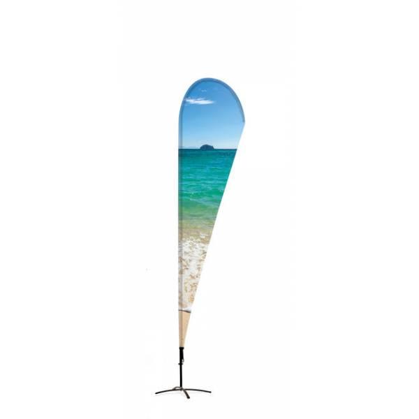 Beachflag Alu Drop 345cm Total Height Luxurious Ba