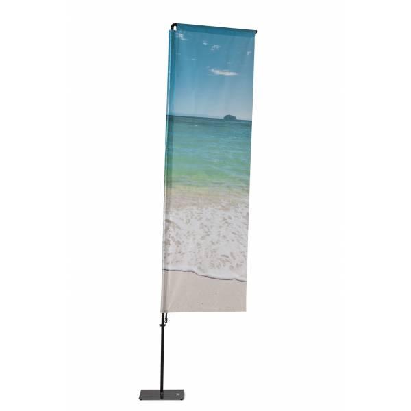 Beachflag Alu Square 350cm Total Height