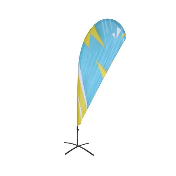 Beachflag Budget Tropfenform Print