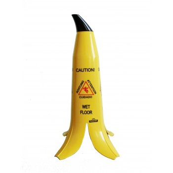 Warnschild Banane, Vorsicht Rutschgefahr