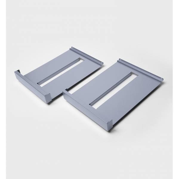 Prospektablagen Metall DIN A4, silber