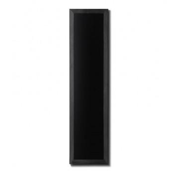 Kreidetafel Holz, flacher Rahmen, schwarz, 35x150