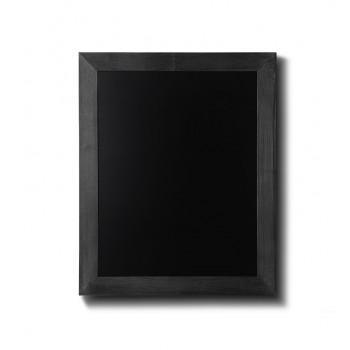 Kreidetafel Holz, flacher Rahmen, schwarz, 40x50