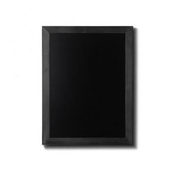 Kreidetafel Holz, flacher Rahmen, schwarz, 50x60