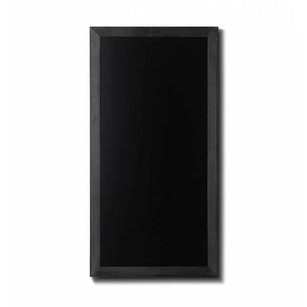 Kreidetafel Holz Flacher Rahmen Schwarz 56x100