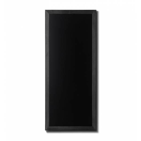 Kreidetafel Holz, flacher Rahmen, schwarz, 56x120