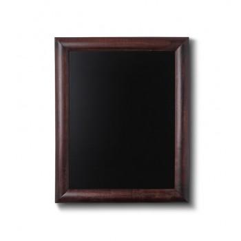 Kreidetafel Holz, abgerundeter Rahmen, dunkelbraun, 30x40