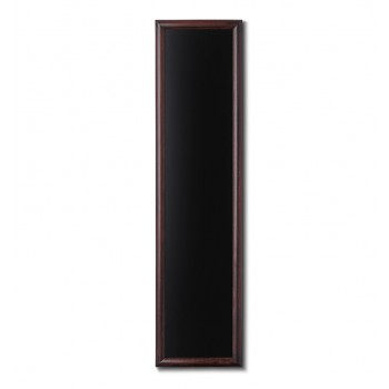 Kreidetafel Holz, abgerundeter Rahmen, dunkelbraun, 35x150