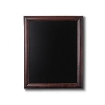 Kreidetafel Holz, abgerundeter Rahmen, dunkelbraun, 40x50