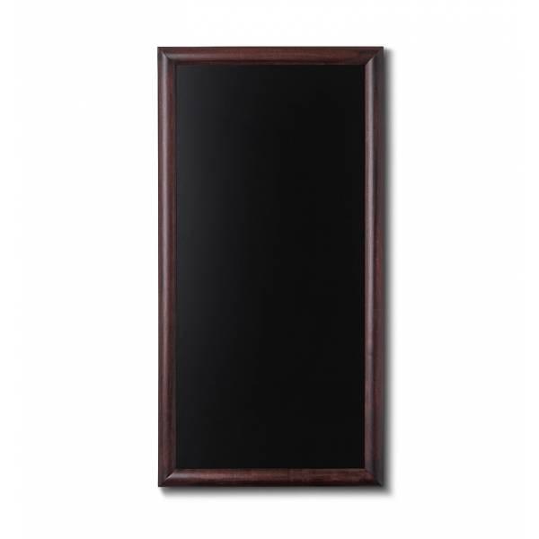 Kreidetafel Holz, abgerundeter Rahmen, dunkelbraun, 56x100