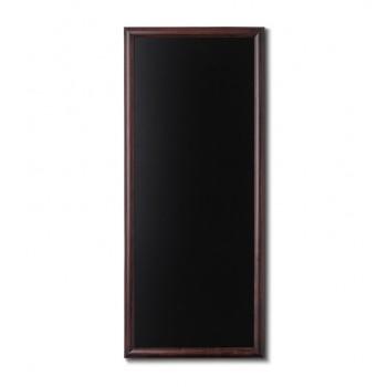 Kreidetafel Holz, abgerundeter Rahmen, dunkelbraun, 56x120