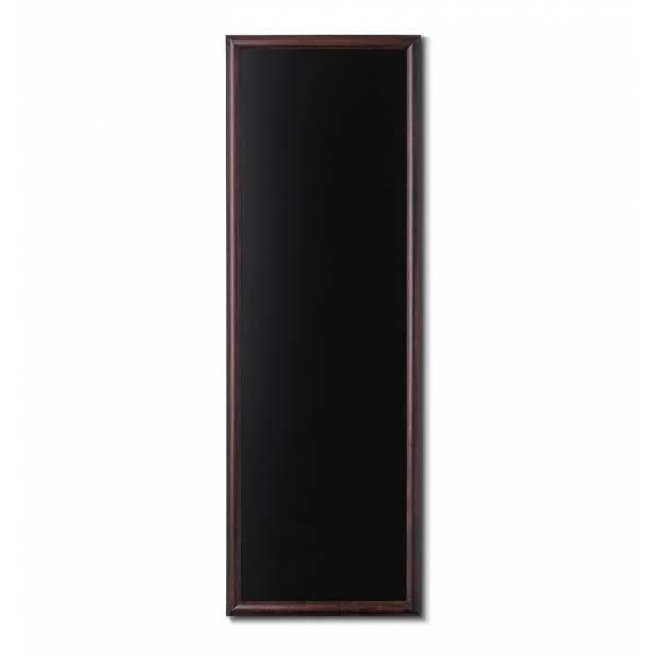 Kreidetafel Holz, abgerundeter Rahmen, dunkelbraun, 56x150