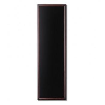Kreidetafel Holz, abgerundeter Rahmen, dunkelbraun, 56x170