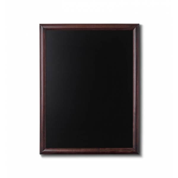 Kreidetafel Holz, abgerundeter Rahmen, dunkelbraun, 60x80
