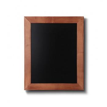 Kreidetafel Holz, flacher Rahmen, teak, 30x40