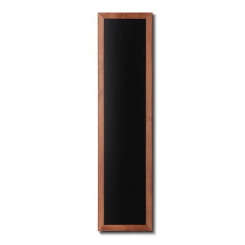 Kreidetafel Holz, flacher Rahmen, teak, 35x150