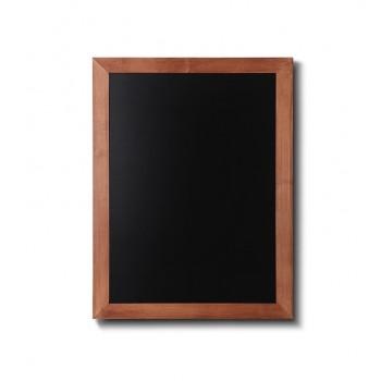 Kreidetafel Holz, flacher Rahmen, teak, 50x60