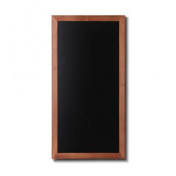 Kreidetafel Holz, flacher Rahmen, teak, 56x100
