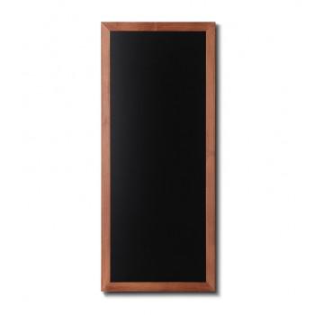 Kreidetafel Holz, flacher Rahmen, teak, 56x120