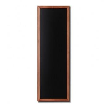 Kreidetafel Holz, flacher Rahmen, teak, 56x150