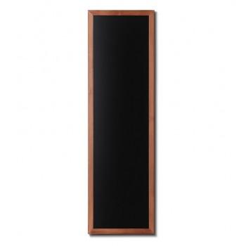 Kreidetafel Holz, flacher Rahmen, teak, 56x170