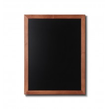 Kreidetafel Holz, flacher Rahmen, teak, 60x80