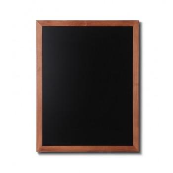 Kreidetafel Holz, flacher Rahmen, teak, 70x90