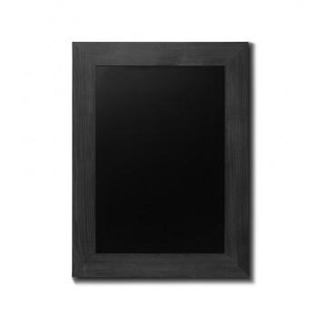 Kreidetafel Holz, breiter Rahmen, schwarz, 60x80