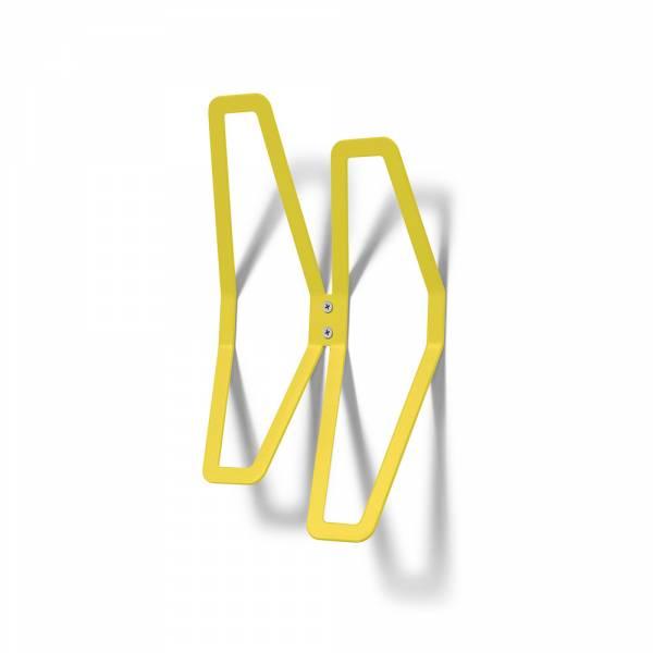 Garderobe Design Wand gelb