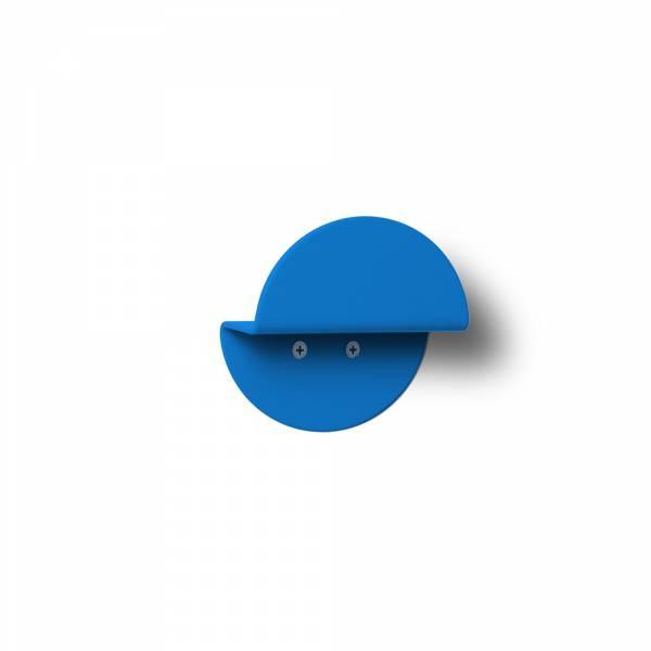 Wandgarderobe rund blau
