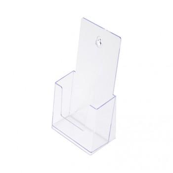 1 x 1/3 A4 Spritzguss-Prospekthalter Tisch/Wand