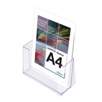 A4 Spritzguss-Prospekthalter Tisch/Wand