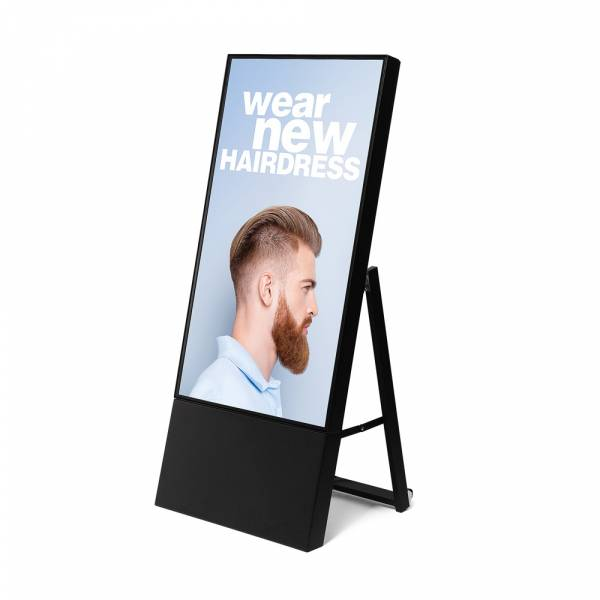 Digitaler Kundenstopper - Smart Line, schwarz