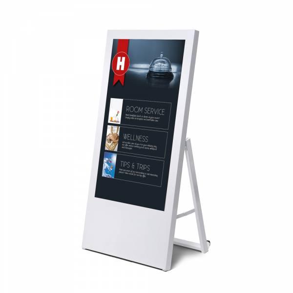 Digitaler Kundenstopper Economy mit Monitor 43
