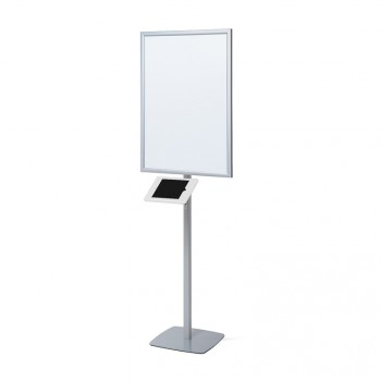 LED Stand, mit Slimcase Tablet-Halter, weiß