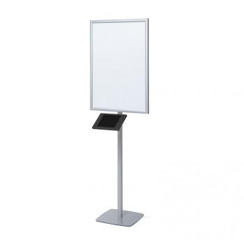 LED Stand, mit Slimcase Tablet-Halter, schwarz