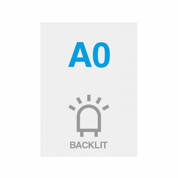 Premium Backlit PP Folie 200g/m2, Satin Oberfläche, A0 (841x1189mm)