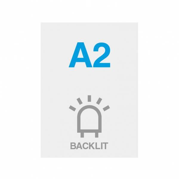 Premium Backlit PP Folie 200g/m2, Satin Oberfläche, A2 (420x594mm)