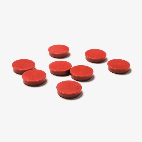 Magnete 35 mm / rot, VPE mit 8 Stück
