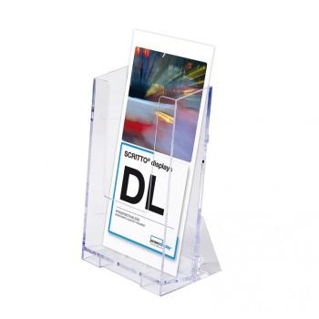 1 × 1/3 A4 Spritzguss-Prospekthalter Tisch/Wand