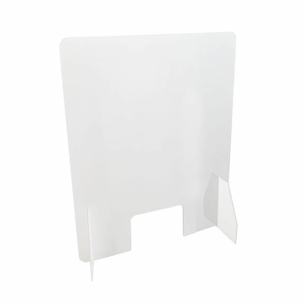 Schutzwand transparent BASIC 50x75 cm stehend