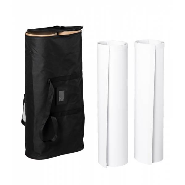 Pop-Up Fabric Premium 4x3 Straight Round Sides Graphic
