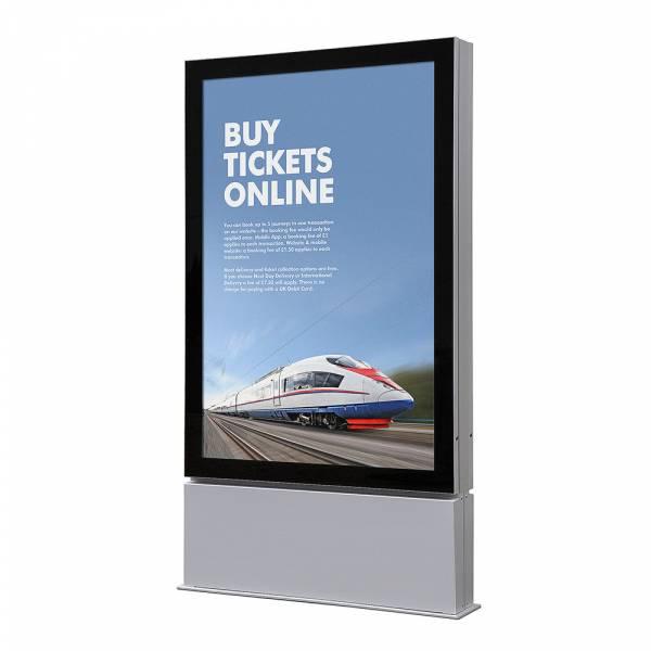 Plakatschaukasten Außen Premium LED - Freistehend (101,6x152,4)
